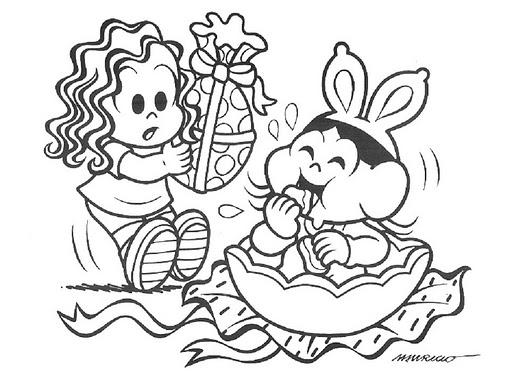 Desenho De Magali Comendo Ovo De Pascoa Para Colorir Tudodesenhos