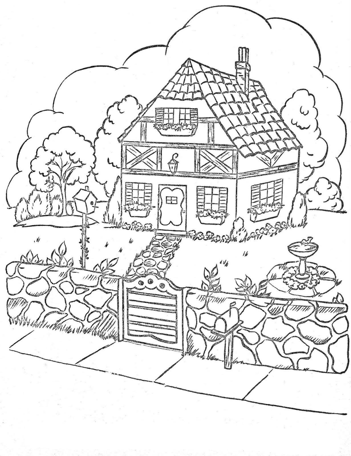 desenho de casa de doces da bruxa para colorir tudodesenhos
