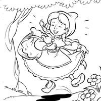 Desenho De Sandra Encontra Chapeuzinho Vermelho Para Colorir