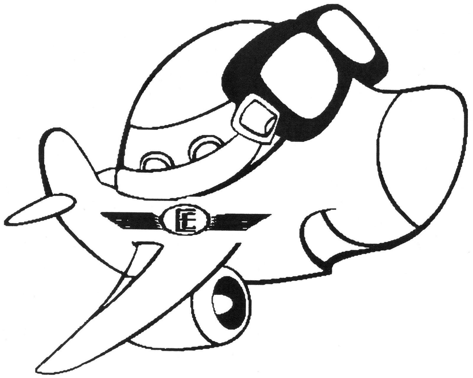 desenhos de avião para colorir tudodesenhos