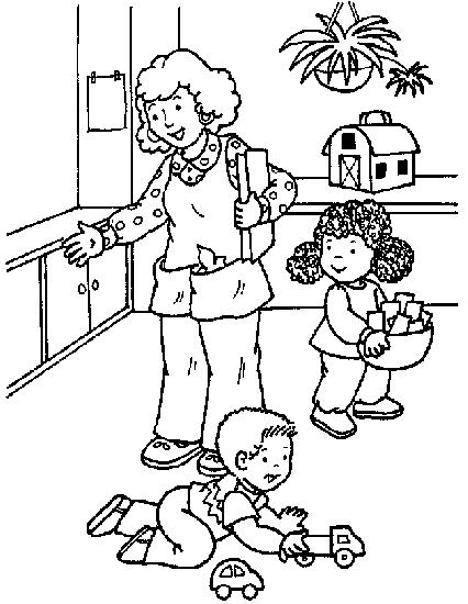 Desenho De Professora Na Pre Escola Para Colorir Tudodesenhos