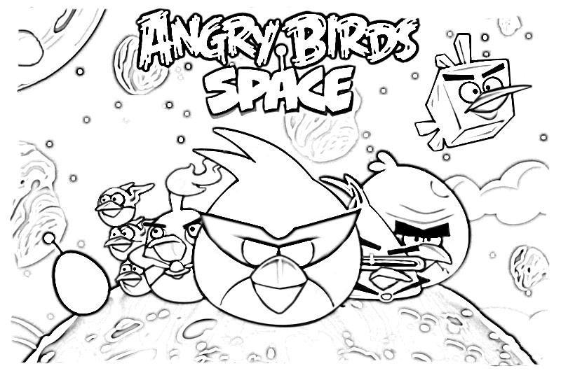 Desenho De Angry Birds Space Para Colorir Tudodesenhos