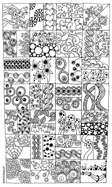 Padroes de zentangle