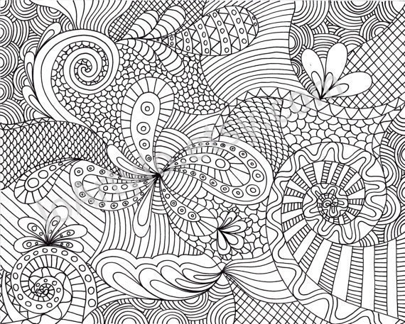 Zentangle abstrato