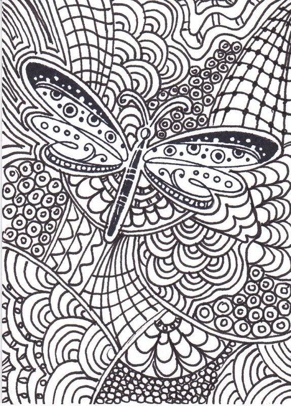 Zentangle borboleta
