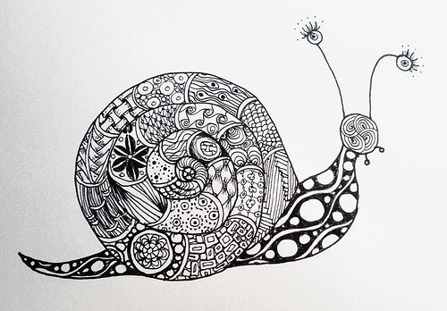 Zentangle caracol