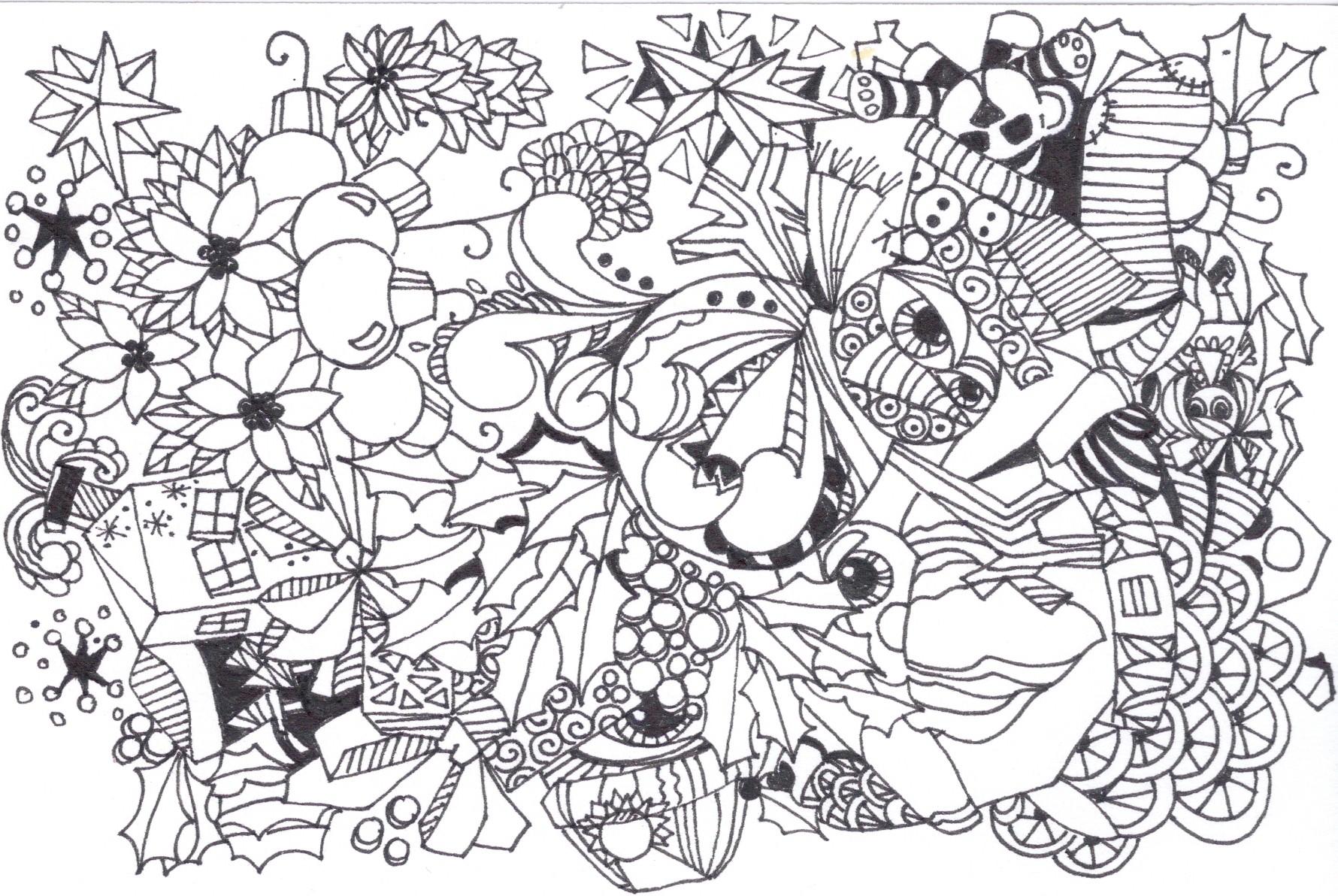 desenho de zentangle florzinhas para colorir tudodesenhos