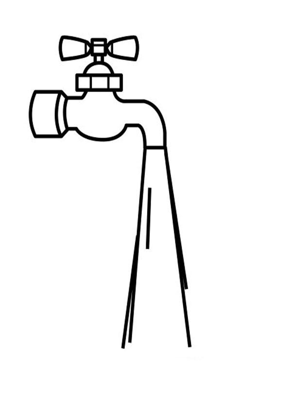 Desenho de Torneira aberta para colorir - Tudodesenhos