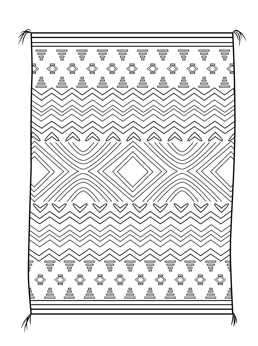Desenho De Tapete Para Quarto Para Colorir Tudodesenhos