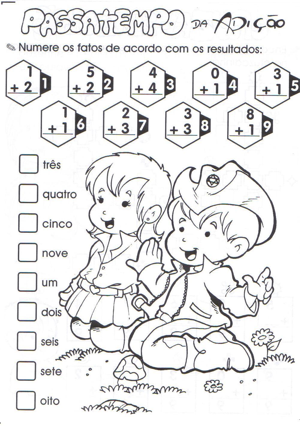 Desenho De Matematica E Adicao Para Colorir Tudodesenhos