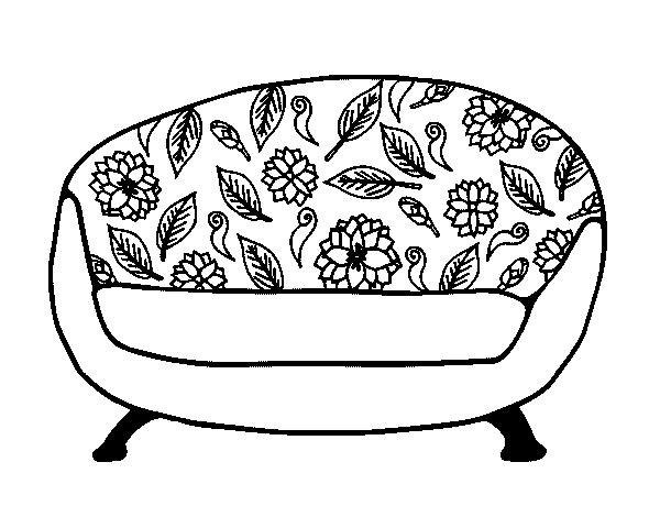Desenho De Sof 225 De Desenho Para Colorir Tudodesenhos