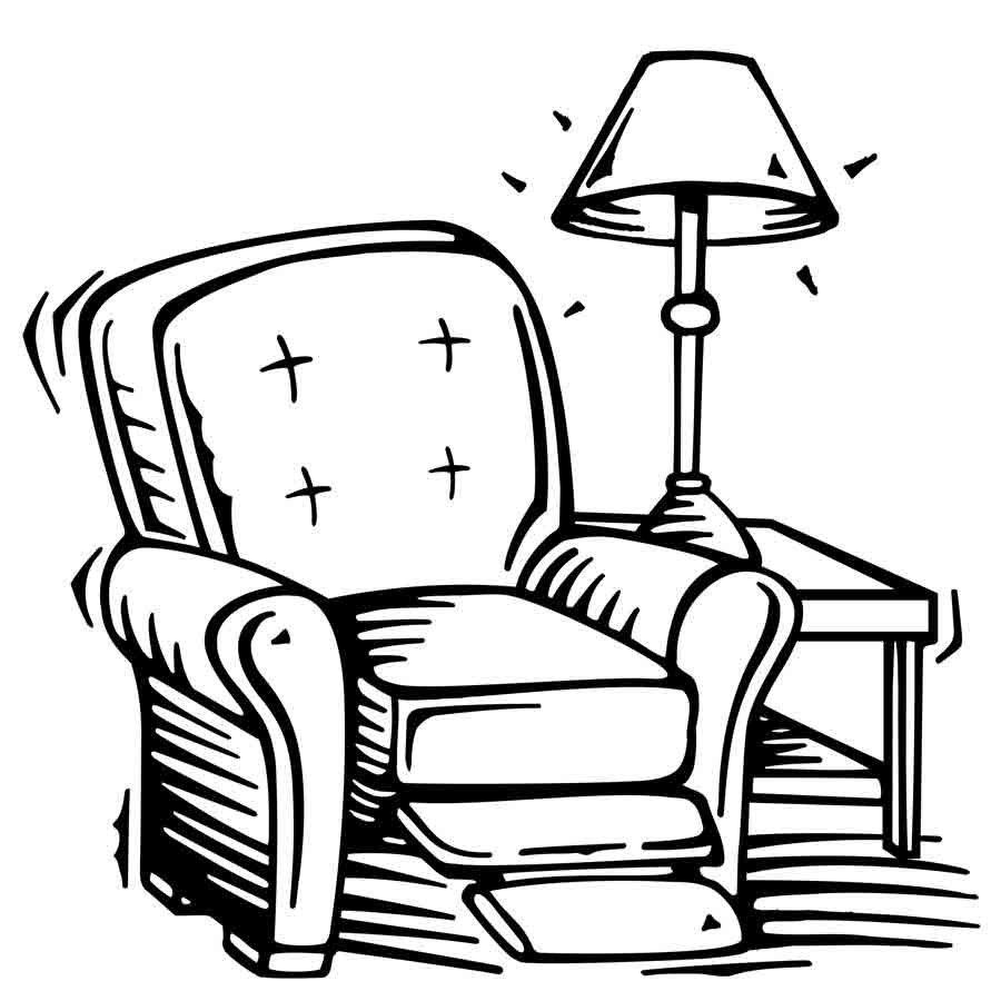 Desenho de sof e encosto para p s para colorir tudodesenhos for Dibujar muebles