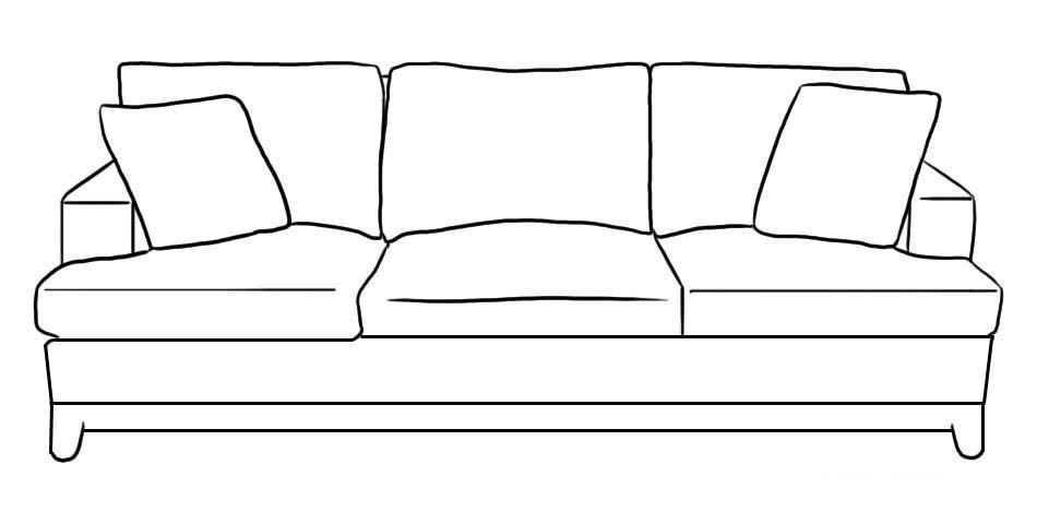 Desenho de sof grande para colorir tudodesenhos for Dibujar un mueble en 3d