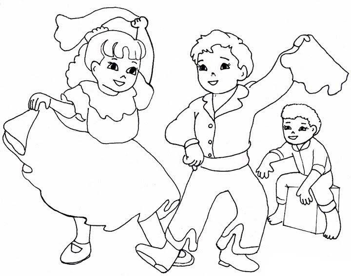 Desenhos de Dança para colorir - Tudodesenhos