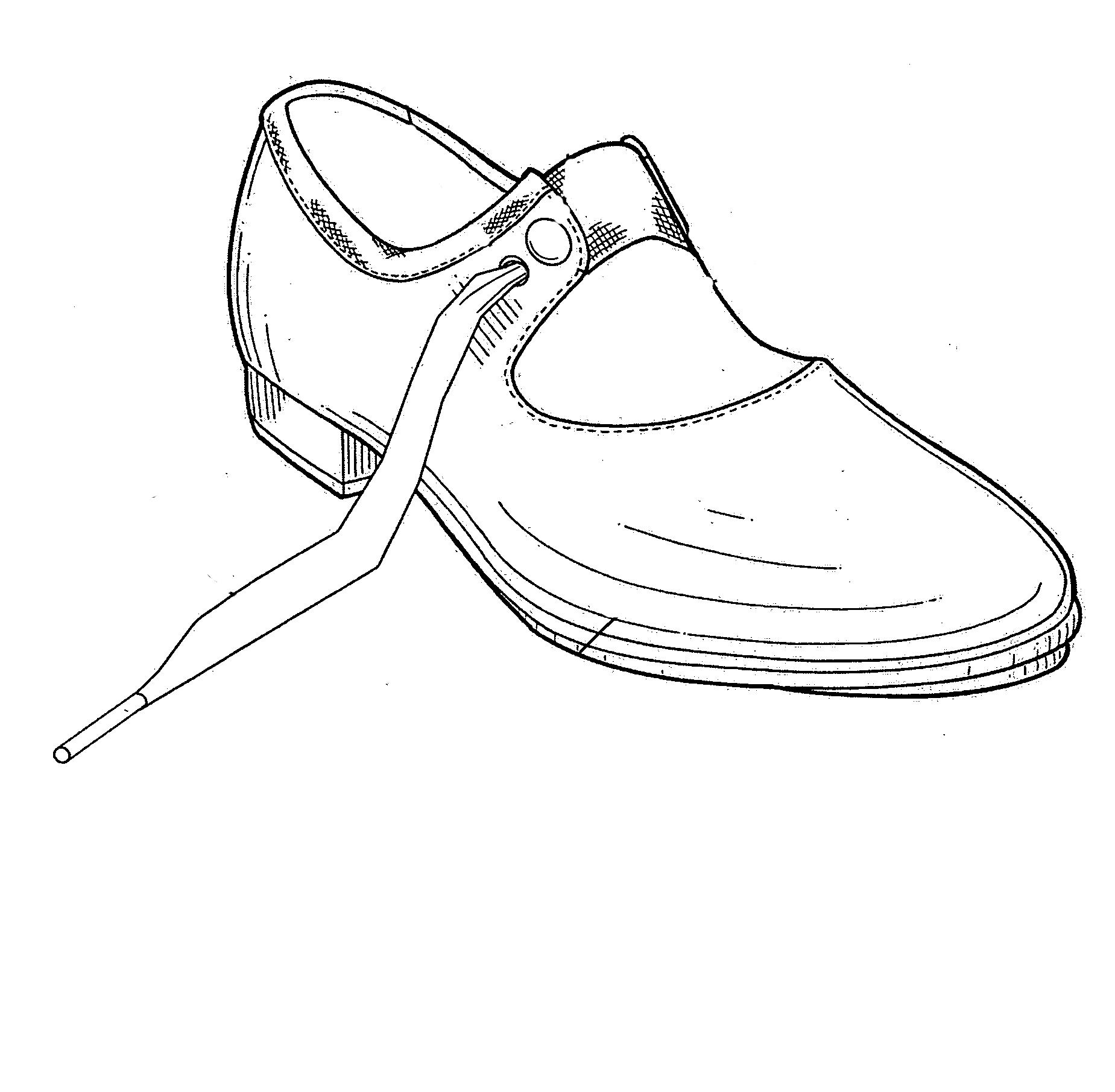 b080cb8932 Desenho de Sapato de sapateado para colorir - Tudodesenhos
