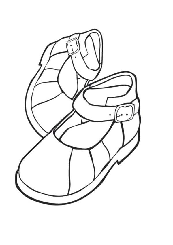 desenho de sapatinho de menina para colorir tudodesenhos