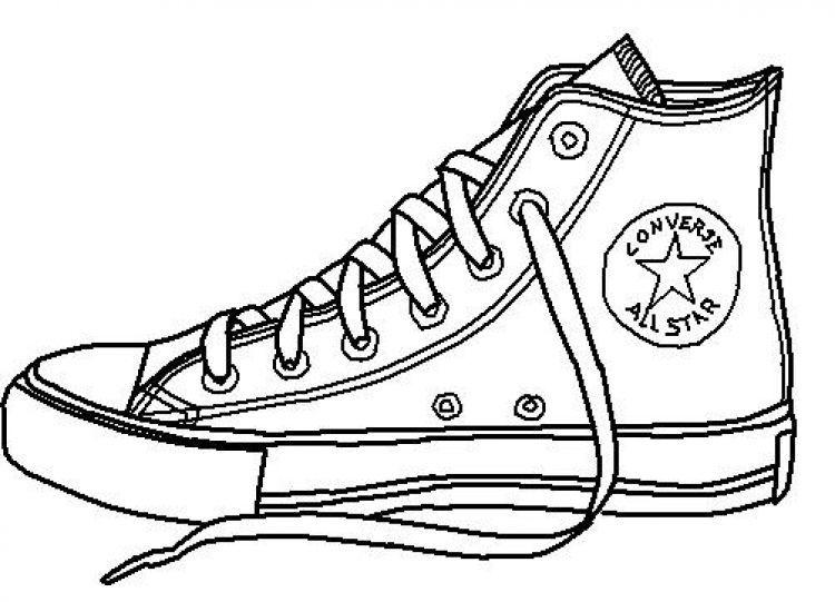 Line Drawing Star : Desenho de tênis all star para colorir tudodesenhos