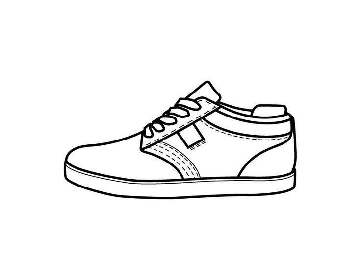 desenho de tênis de passeio para colorir tudodesenhos