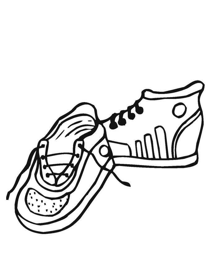 desenho de tênis para meninos para colorir tudodesenhos