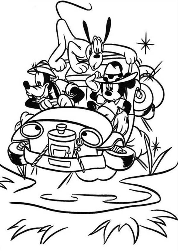 Desenho De Carro Do Safari Do Mickey Para Colorir Tudodesenhos