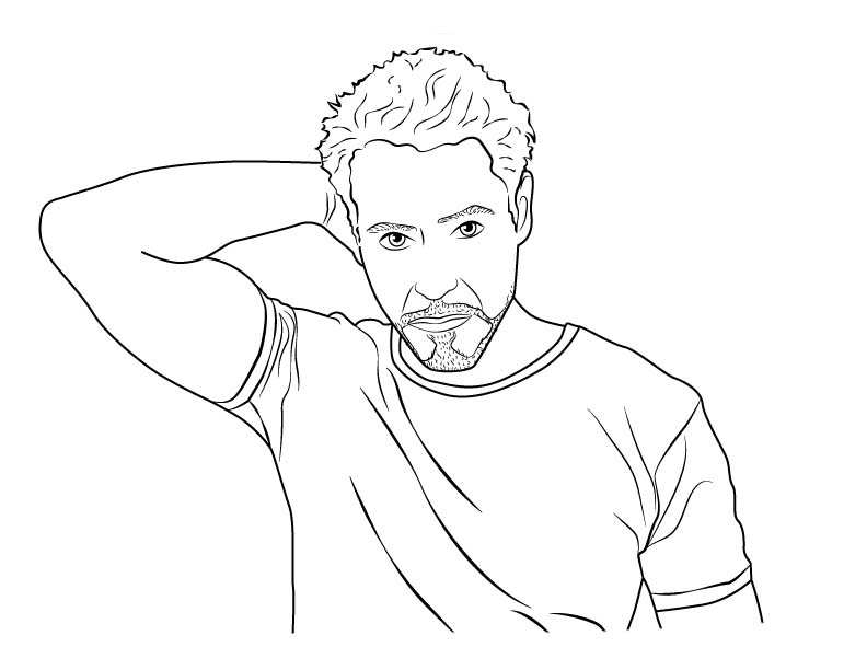 Desenho de Ator Robert... Robert Downey
