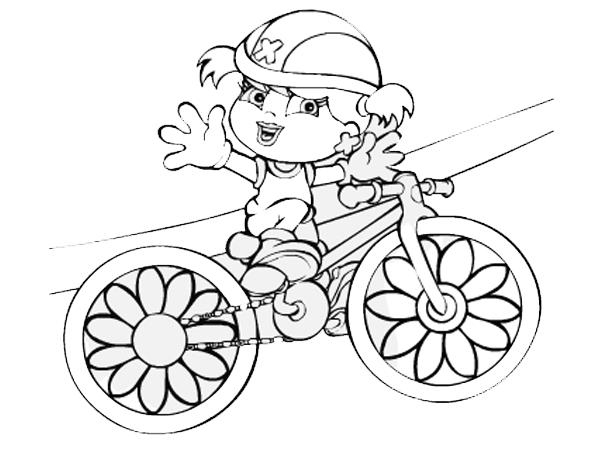 Desenho De Xuxinha Andando De Bicicleta Para Colorir Tudodesenhos