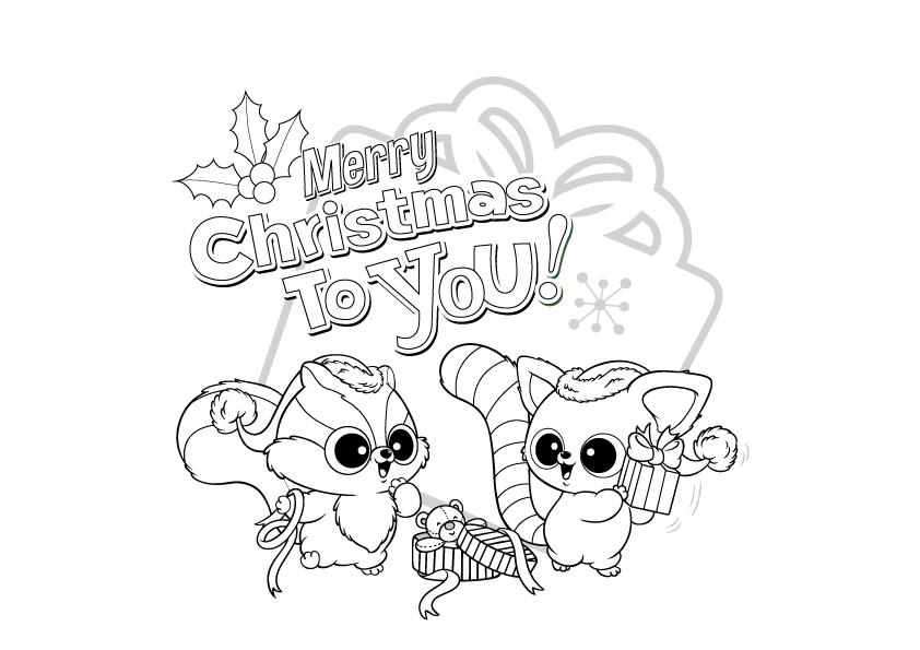 Desenho De Feliz Natal Com Yoohoo Para Colorir Tudodesenhos