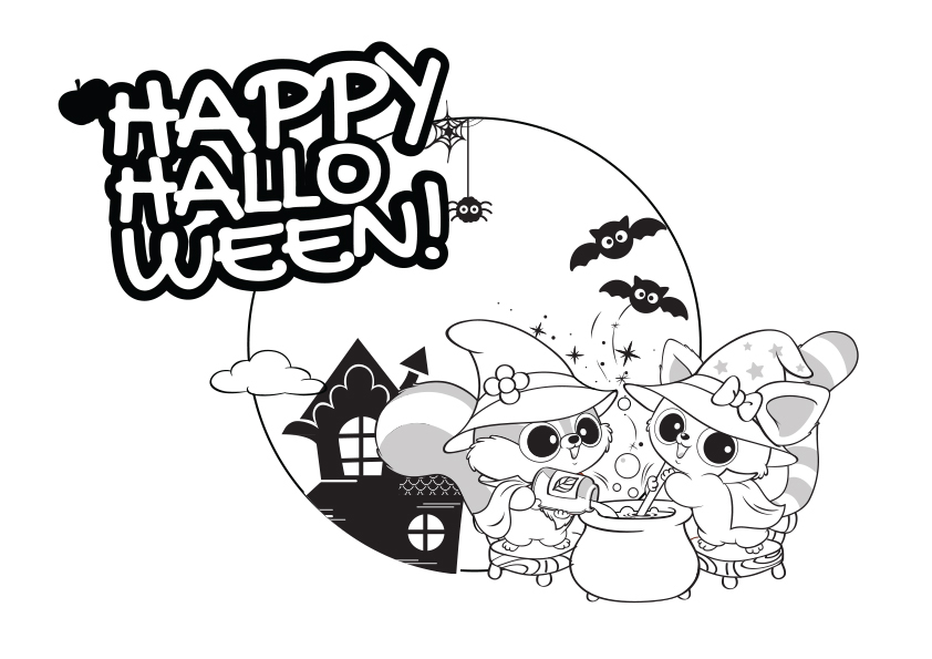 Desenho de yoohoo vestidos de bruxos no halloween para for Yoohoo and friends coloring pages