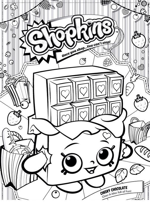 desenho de shopkins chocolate para colorir tudodesenhos