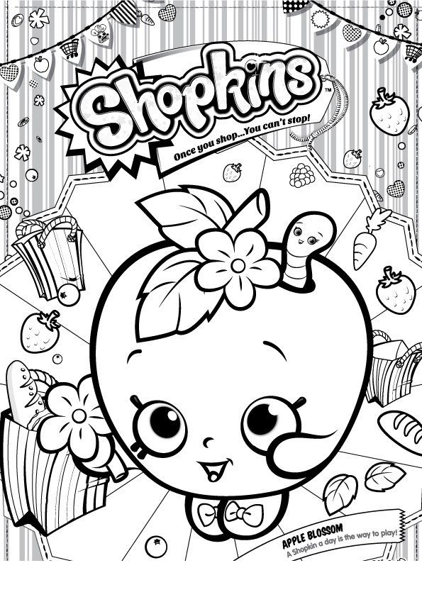 Coloring Pages Free Shopkins Shoppies Printable Etienne Laurent