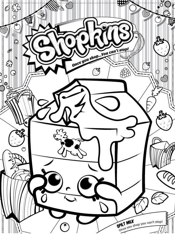 desenho de shopkins leite para colorir tudodesenhos