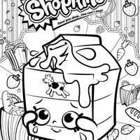 Desenho de shopkins batom para colorir tudodesenhos