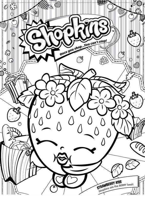 desenho de shopkins morango para colorir tudodesenhos