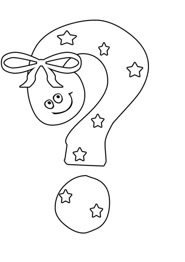 Q Is For Question Desenho de Sinal de pe...