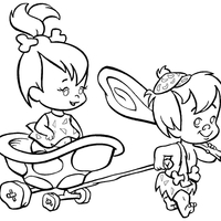 Desenhos Dos Flintstones Para Colorir Tudodesenhos
