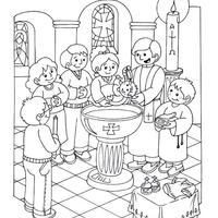 desenho de batismo de jesus para colorir tudodesenhos