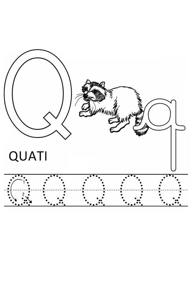 desenho de letra q de quati para colorir tudodesenhos