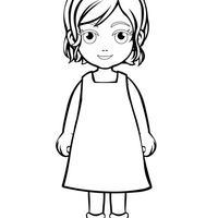 desenhos de meninas para colorir tudodesenhos