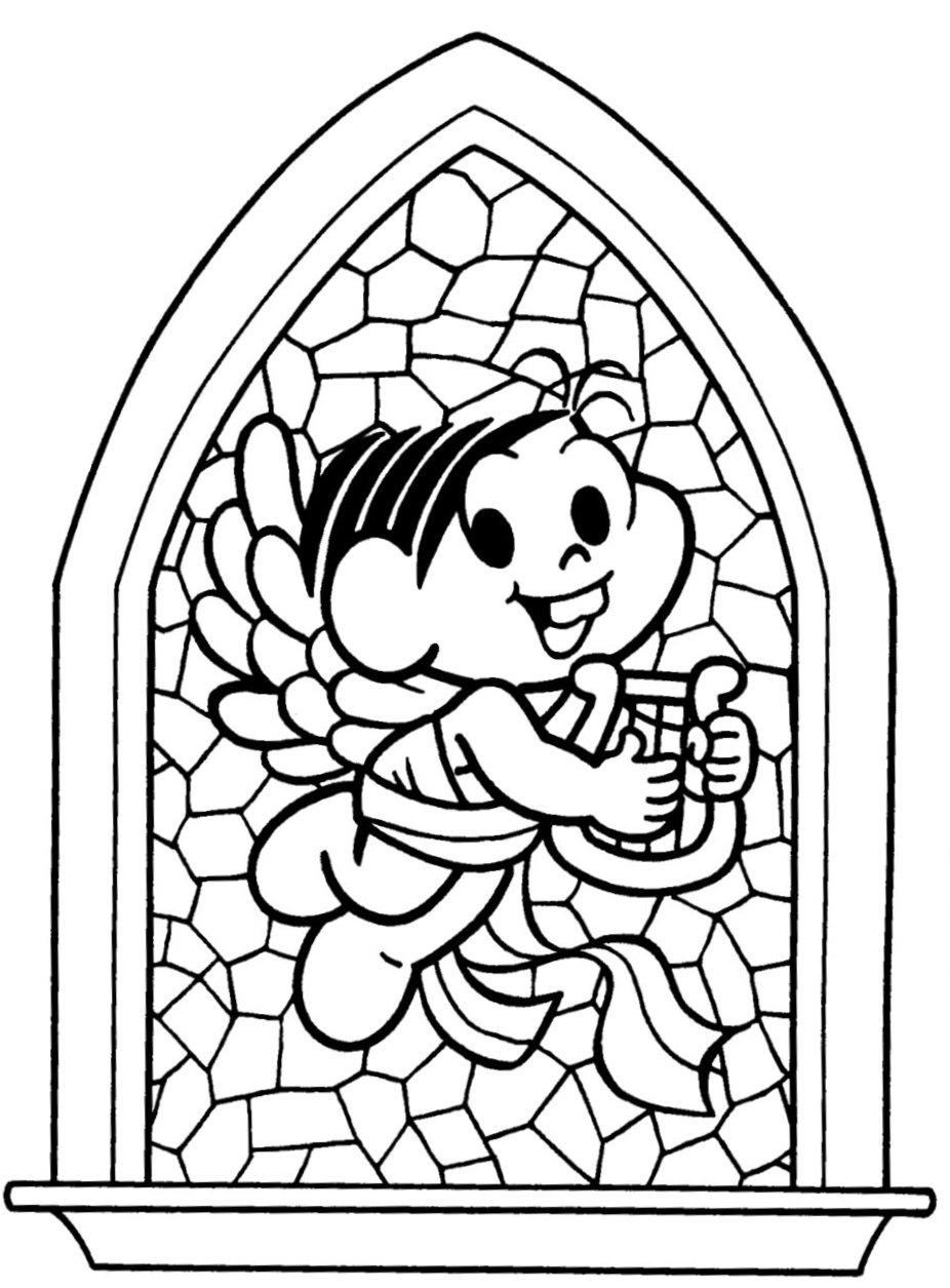 desenho de monica anjinho para colorir tudodesenhos