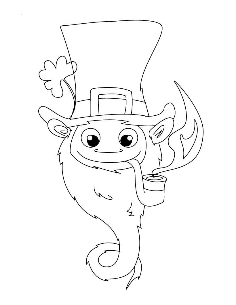 desenho de cabeça de duende para colorir tudodesenhos