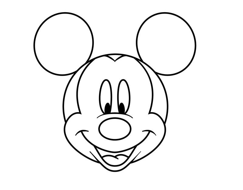 Desenho De Cabeça Do Mickey Mouse Para Colorir