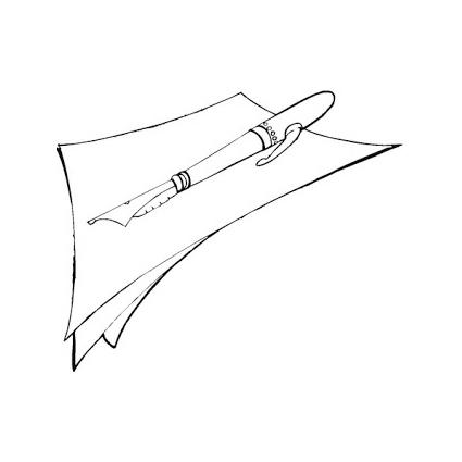 Desenho de folha de papel e caneta para colorir tudodesenhos - Papel de pintar ...