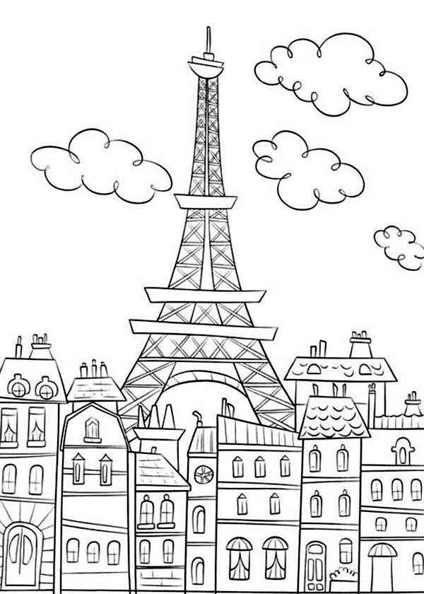 Desenho De Torre Eiffel Para Colorir Tudodesenhos