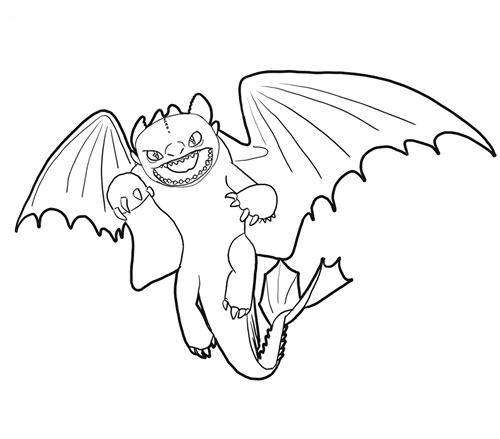 ausmalbilder dragons