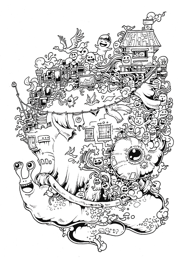 Doodle invasion caracol