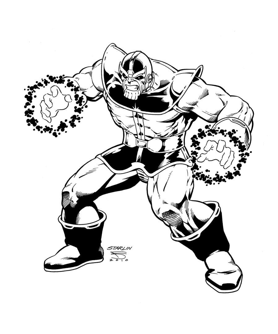 Desenho De Thanos Marvel Para Colorir Tudodesenhos