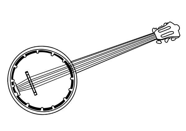 Desenho De Banjo Instrumento Para Colorir Tudodesenhos