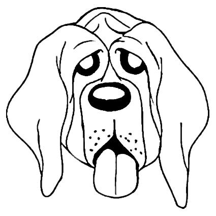 Desenho De Cachorro Cansado Para Colorir Tudodesenhos