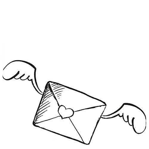 Desenho De Carta De Amor Do Dia Dos Namorados Para Colorir
