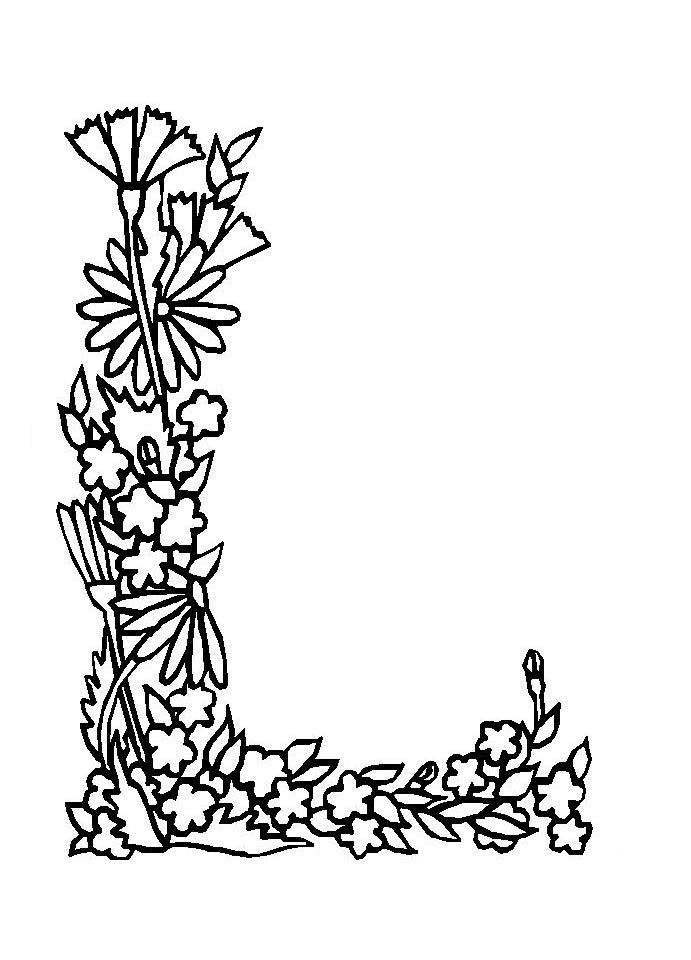 Desenho De Carta Com Borda De Flores Para Colorir Tudodesenhos